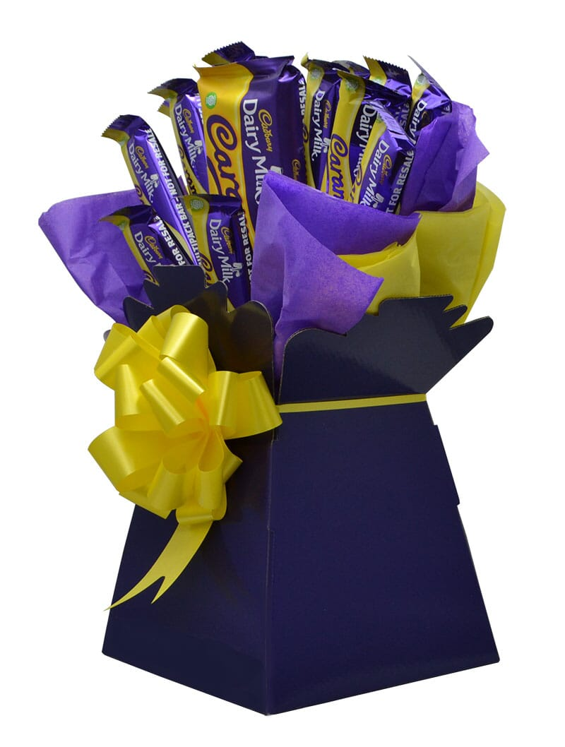 dairy milk caramel luxury chocolate bouquet