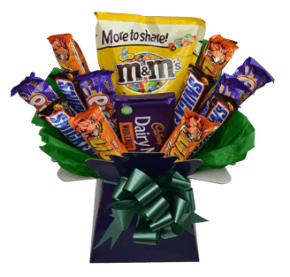 nutty luxury chocolate bouquet
